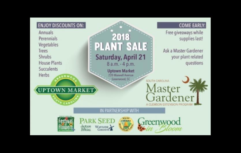 2018 Plant Sale Saturday April 21 8am until 4pm