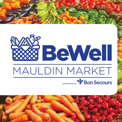 BeWell Mauldin Farmers Market. Tuesdays, June 5 to August 28, 5 to 8PM.